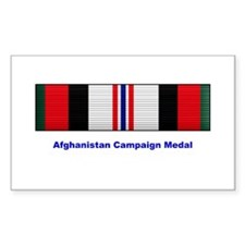 Afghanistan Campaign Medal Rectangle Decal