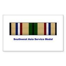 Southwest Asia Service Medal Rectangle Decal