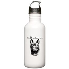 Schipperke Happy Face Water Bottle