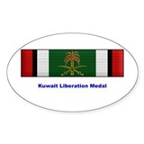 Kuwait Liberation Medal Oval Decal