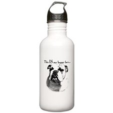 Bulldog Happy Face Water Bottle