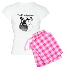 Bulldog Happy Face Pajamas