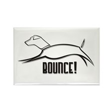 Bounce! Rectangle Magnet