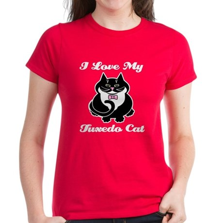 Tuxedo Cat Women's Dark T-Shirt
