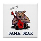 Luv My 'BAMA BEAR Tile Coaster