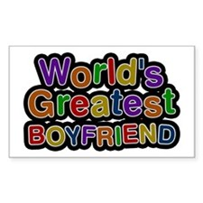 World's Greatest Boyfriend Rectangle Decal