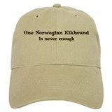 One Norwegian Elkhound Baseball Cap