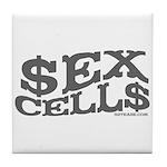 Sex Cells-$ex Cell$ Tile Coaster