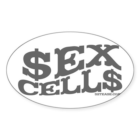 Sex Cells-$ex Cell$ Oval Sticker