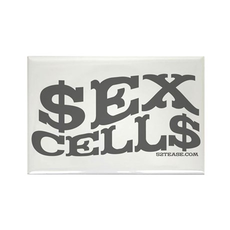 Sex Cells-$ex Cell$ Rectangle Magnet