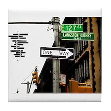 Langston Hughes Place Tile Coaster