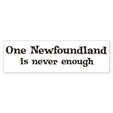 One Newfoundland Bumper Bumper Sticker