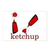 I love Ketchup Postcards (Package of 8)