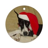 Santa Mantle Ornament (Round)
