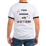 I Love Someone With Autism! (BackDesign) Ringer T
