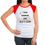 I Love Someone With Autism! Women's Cap Sleeve T-S