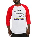 I Love Someone With Autism! (2-Sided) Baseball Jer