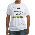 I Love Someone With Autism! Fitted T-Shirt