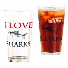 SHARKS13274 Drinking Glass