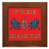 Free Mason and Blue Dragons Framed Tile