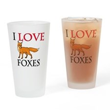 FOXES106271 Drinking Glass