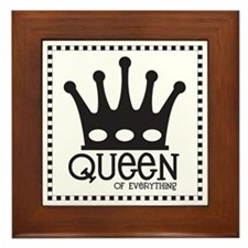 Queen of Everything Framed Tile