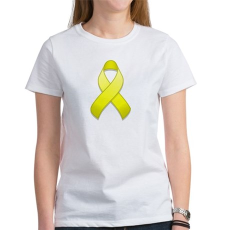 Yellow Awareness Ribbon Women's T-Shirt