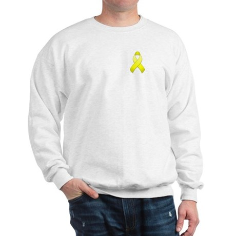 Yellow Awareness Ribbon Sweatshirt