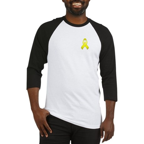 Yellow Awareness Ribbon Baseball Jersey