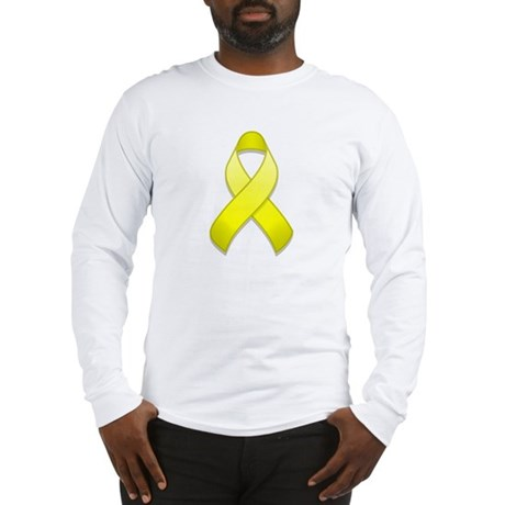 Yellow Awareness Ribbon Long Sleeve T-Shirt