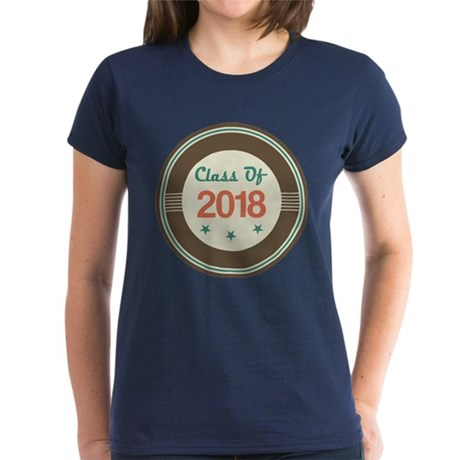 Class of 2018 Vintage Women's Dark T-Shirt