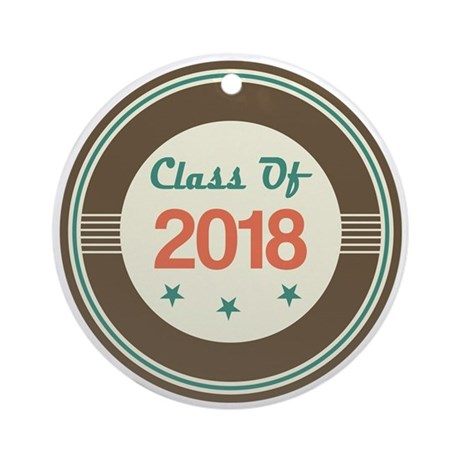 Class of 2018 Vintage Ornament (Round)