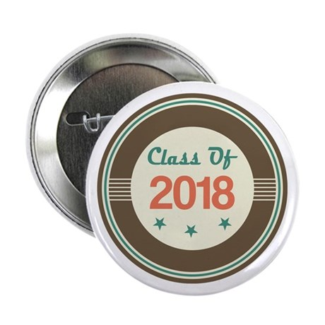 "Class of 2018 Vintage 2.25"" Button"