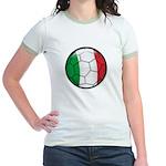 Italy Soccer Jr. Ringer T-Shirt