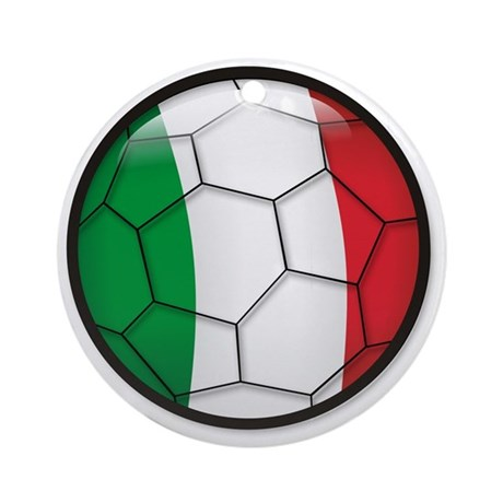 Italy Soccer Ornament (Round)