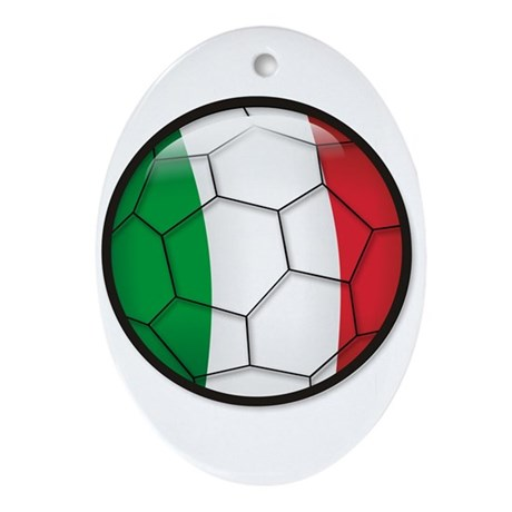 Italy Soccer Oval Ornament