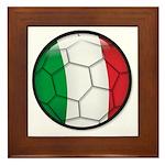 Italy Soccer Framed Tile