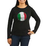 Italy Soccer Women's Long Sleeve Dark T-Shirt