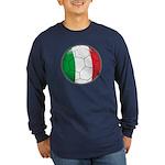 Italy Soccer Long Sleeve Dark T-Shirt