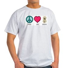 Peace Love & Doodles Ash Grey T-Shirt