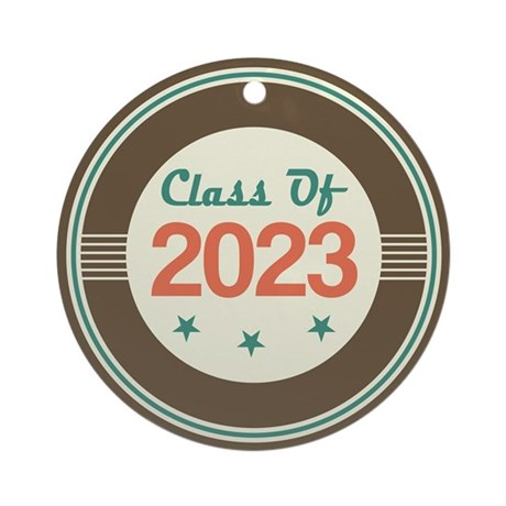 Class of 2023 Vintage Ornament (Round)