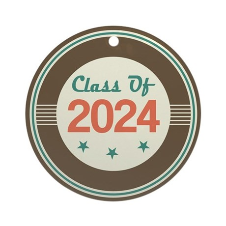 Class of 2024 Vintage Ornament (Round)