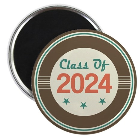 Class of 2024 Vintage Magnet