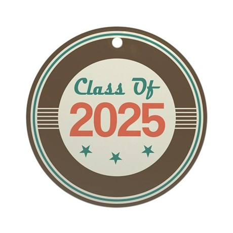Class of 2025 Vintage Ornament (Round)