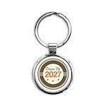 Class of 2027 Vintage Round Keychain