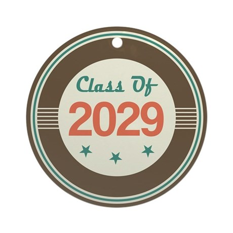 Class of 2029 Vintage Ornament (Round)