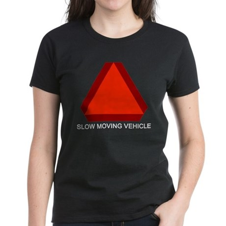 Slow Moving Vehicle Sign Women's Black T-Shirt