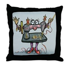 Cute Sewing Throw Pillow