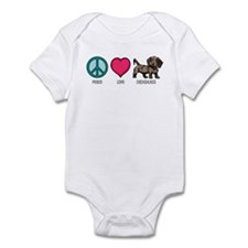 Peace Love & Dachshunds Infant Bodysuit