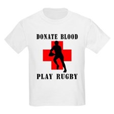 Donate Blood Play Rugby Kids T-Shirt